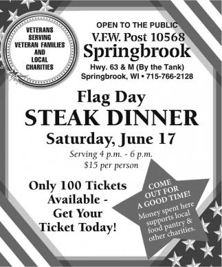Flag Day Steak Dinner
