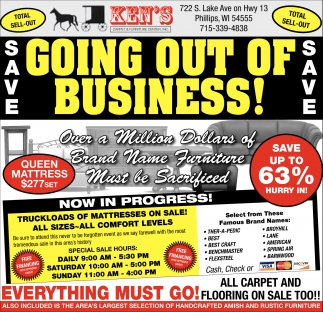 Going Out of Business!