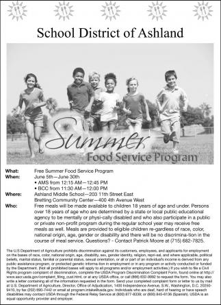 Summmer Food Service Program