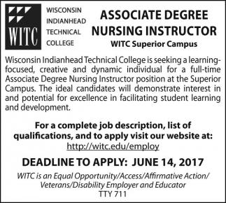 Associate Degree Nursing Instructor