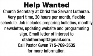 Church Secretary