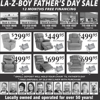 LA Z Boy Father's Day Sale