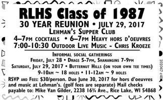 RLHS Class of 1987