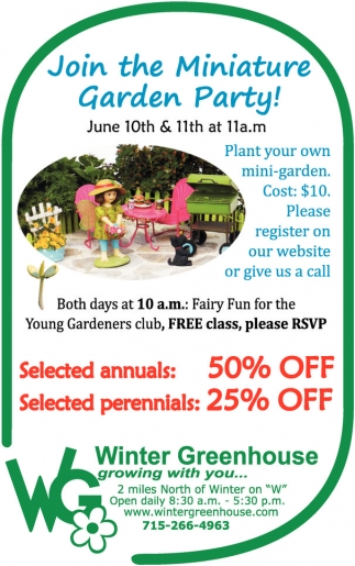 Join the Miniature Garden Party