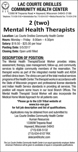 Mental Health Therapists