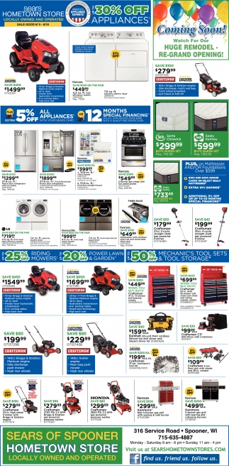 30% off appliances