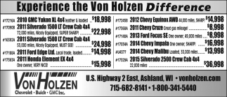 Experience the Von Holzen Difference