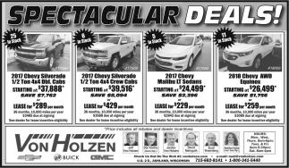 Spectacular Deals!