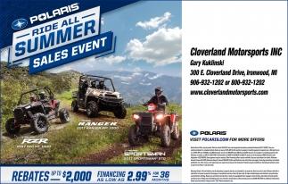 Polaris Ride All Summer Sales Event