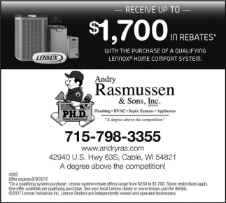 Receive up to $1,700 in rebates*