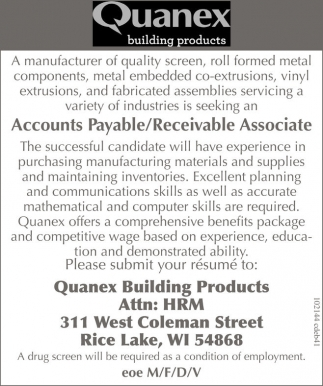 Accounts Payable / Receivable Associate