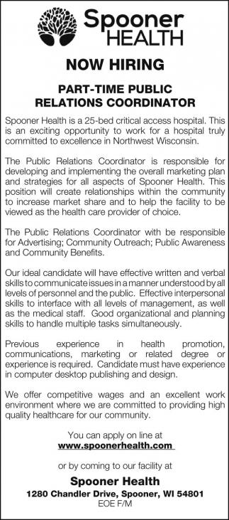Public Relations Coordinator