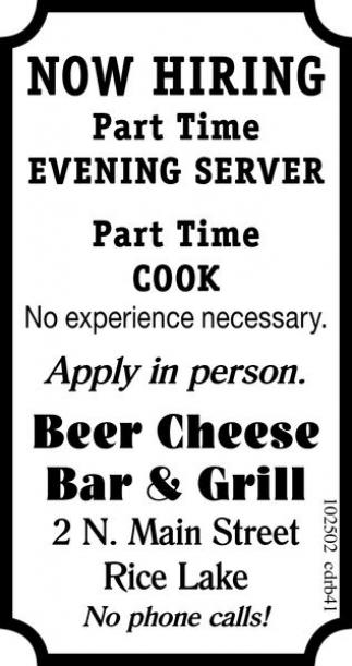 Evening Server / Cook