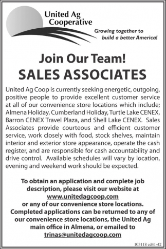 Sales Associates