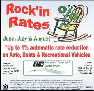 Rock'in Rates, June, July & August