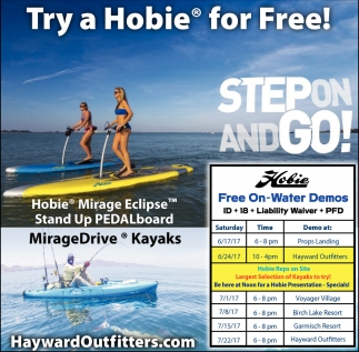 Try a Hobie for Free!