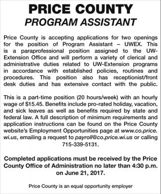 Program Assistant