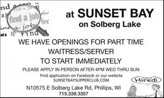 Waitress/Server
