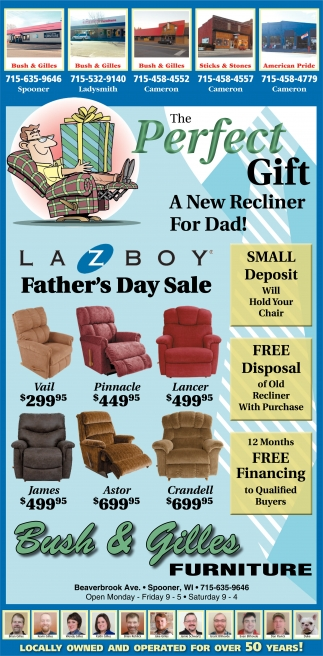 The Perfect Gift, A New Recliner for Dad