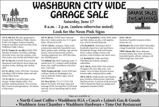 Washburn City Wide Garage Sale