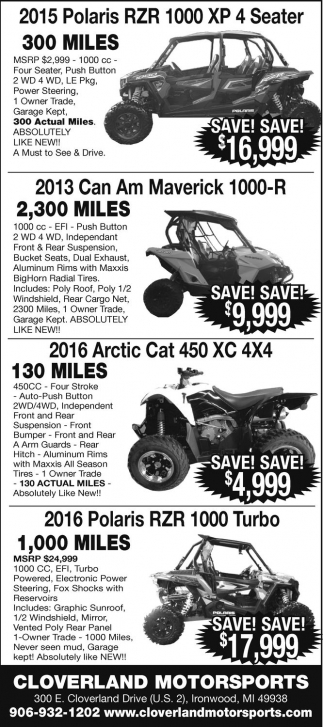 Polaris, Can Am, Arctic