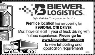 Regional OTR Driver