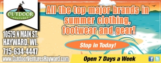 Summer Clothing, footwear and gear!