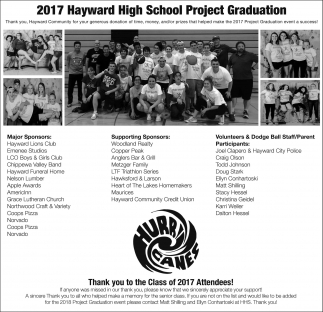 2017 Hayward High School Project Graduation