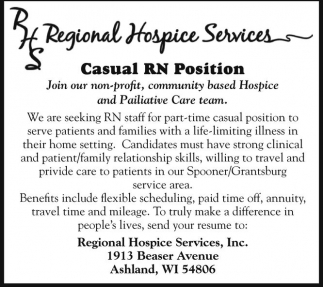 Casual RN Position