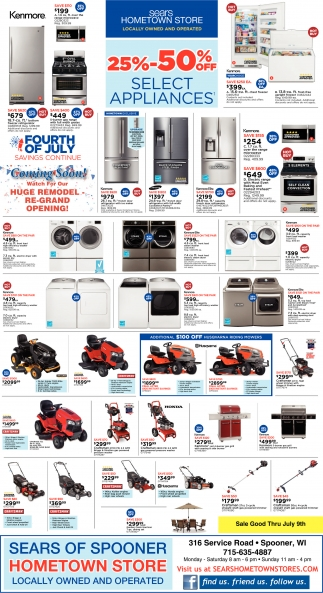 25% - 50% off Select Appliances