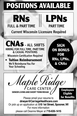 CNAs - ALL SHIFTS