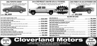 Toyota, Chevrolet, Ford