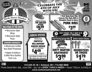 Celebrate The 4th of July With Us!