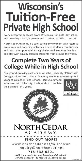 Wisconsin's Tuition Free Boarding School