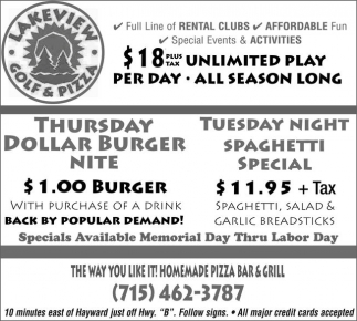 Thursday Dollar Burger Nite