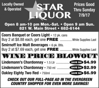 Wine Price Blowout