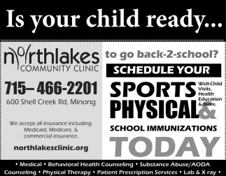 Sports & Physical School Immunizations