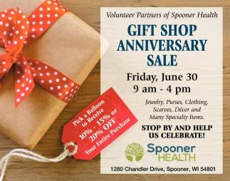Gift Shop Anniversary Sale