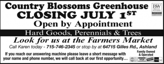 Hard Goods, Perennials & Trees