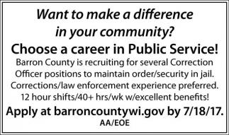 Career in Public Service