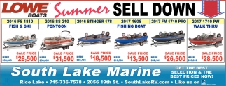 Lowe Boats Summer Sell Down