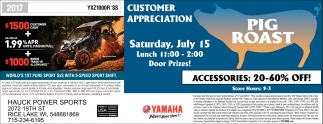 Customer Appreciation Pig Roast