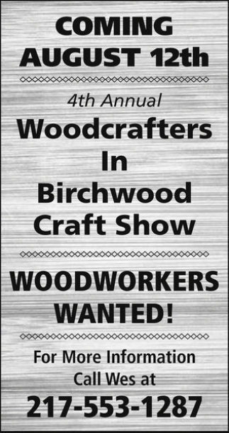 4th Annual Woodcrafters