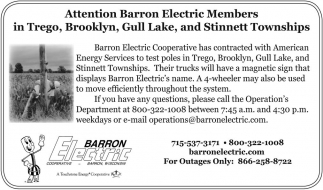 Attention Barron Electric Members