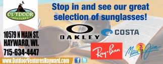 Stop in and see our great selection of sunglasses