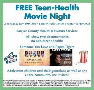 Free Teen Health Movie Night