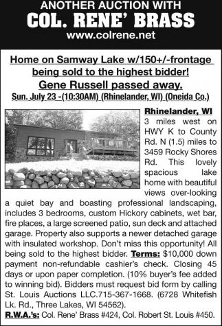 Home on Samway Lake