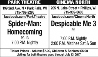 Spider-Man: Homecoming / Despicable Me 3