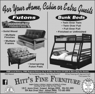 Futons, Bunk Beds
