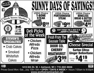 Sunny Days of Savings